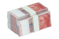 Packe av schweizisk franc royaltyfri illustrationer