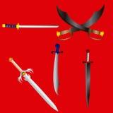 Packe av svärd royaltyfri illustrationer