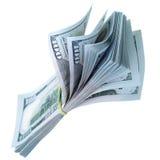 Packe av US dollar Arkivbild