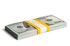 Packe av 100 US dollar upplagasedlar 2013 Arkivfoto