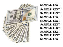 Packe av USA 100 dollar sedlar Fotografering för Bildbyråer