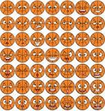 packe för 49 ansiktsuttryck - basket Arkivbild