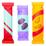 Packe för chokladstänger vektor illustrationer