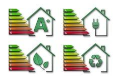 Packe för energieffektivitet royaltyfri illustrationer
