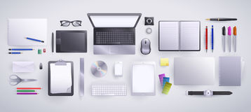 Packe för grafisk formgivare och copywriter royaltyfri illustrationer