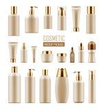 Packe för lyxig kosmetisk produkt royaltyfri illustrationer