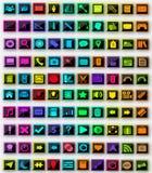 packe för 100 symboler Arkivfoto