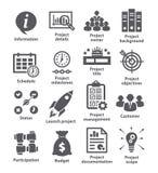 Packe 44 för symboler för affärsledning vektor illustrationer
