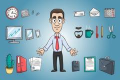 Packe för tecken för affärsman royaltyfri illustrationer
