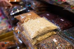 Packed Beans And Nuts For Sale At Local Market Stock Photo