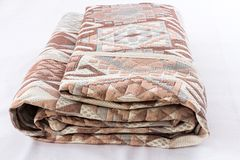 Packed bed cover Royalty Free Stock Photos