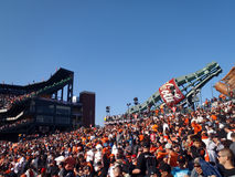 Packed bleacher section with fans of AT&T Park Royalty Free Stock Photo