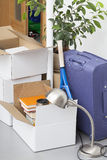 Packed boxes Stock Images