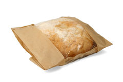Packed bread. Isolated on white background Royalty Free Stock Photography