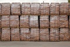Packed bricks Stock Photos