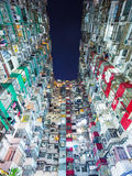 Packed building in Hong Kong Royalty Free Stock Images