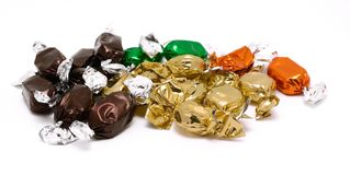 Packed candies Stock Photos