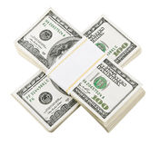Packed dollar money. Isolated on white background Royalty Free Stock Images