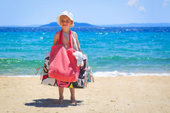 Packed foe beach Royalty Free Stock Image