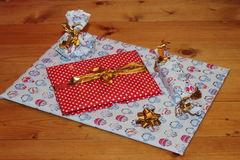 Packed gifts with love. Royalty Free Stock Photos