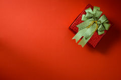 Packed glittery red present container  present container Royalty Free Stock Photo