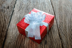 Packed glittery red present container Royalty Free Stock Photo