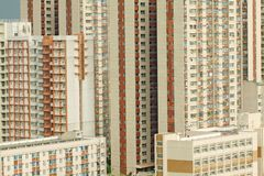 Packed Hong Kong apartment blocks Stock Photography