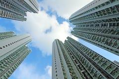 Packed Hong Kong public housing Stock Image