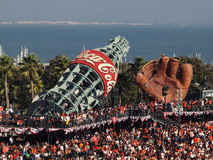 Packed house  AT&T park fans standing everywhere Royalty Free Stock Photo
