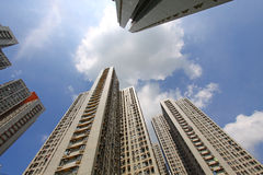 Packed housing in Hong Kong Stock Images