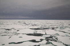 Packed ice in Arctic sea. Packed ice in the Arctic sea Royalty Free Stock Photography