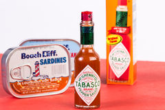 Packed in Louisiana Hot Sauce Royalty Free Stock Photography