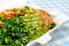Packed meal with variety of vegetables. Takeout packed meal with variety of healthy green vegetables. Suitable for concepts such as diet and nutrition, healthy Royalty Free Stock Photography