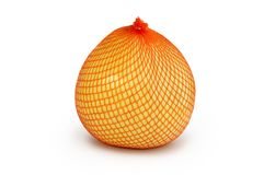 Packed pomelo. This is a big citrus fruit in a package ready to be sold in the shops Royalty Free Stock Image