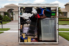 Packed Portable Storage Container Royalty Free Stock Image