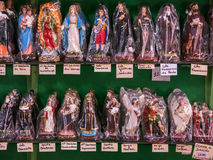 Packed saints statues Stock Photography