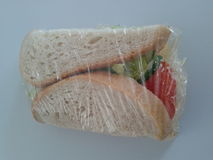 Packed sandwich Stock Image