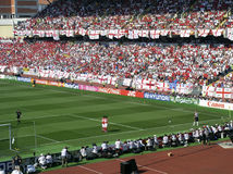 Packed stadium of England fans Stock Photos
