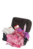 Packed suitcase Stock Photo