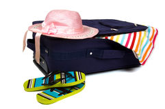 Packed suitcase Stock Images