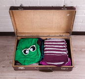 Packed Vintage Suitcase Royalty Free Stock Photo