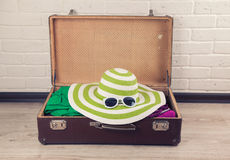 Packed Vintage Suitcase Royalty Free Stock Image