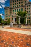 Packefyrkanten parkerar och den Buncombe County domstolsbyggnaden i Asheville Royaltyfri Bild