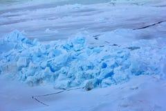 Packeis nära nordpolen i 2016, hummocky polar is Fotografering för Bildbyråer