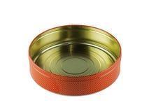 Packen Sie rostfreies, der Kasten ein, der von der Blechtafel hergestellt wird, lokalisiert auf weißem Hintergrund Stockbild