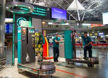 Packers Vnukovo airport baggage expect customers Stock Photo