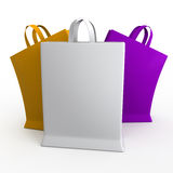 Packet 3D illustration Royalty Free Stock Images