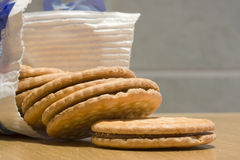 Packet of biscuits Royalty Free Stock Photography