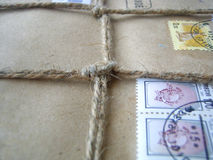 Packet with bow. A packet closed with a string and bow Royalty Free Stock Photos