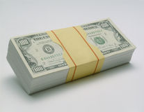 Packet of Cash Royalty Free Stock Photos